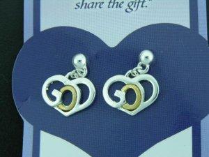 Ladies 18K Gold GOD Earrings