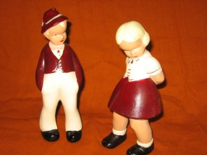 Alexander Backer Chalkware Figurines