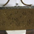 Gold Beaded Handbag