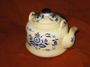 Blue Patterned Teapot
