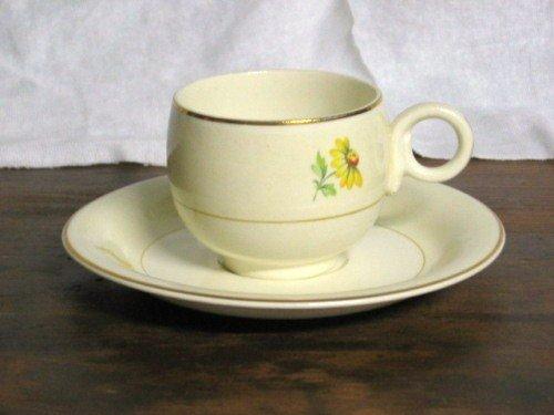 Homer Laughlin Eggshell Daisy Cup  & Saucer