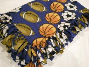Large Sports Baby, Toddler, Kids Fleece Blanket