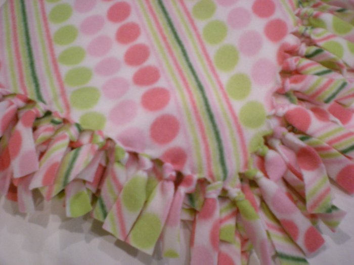 Large 'Candy' Baby, Toddler, Kids Fleece Blanket
