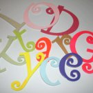 Custom Hand-Painted Wood Letters - Choose Your Font, Size, Color, Hanger