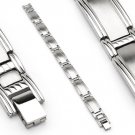 Satin Finish Stainless Steel Link Mens Bracelet (6634)