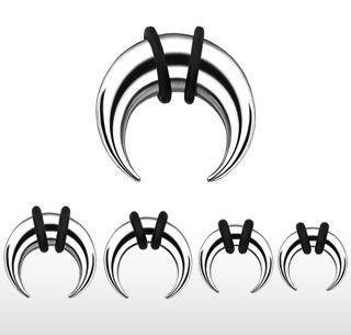 Surgical Steel Buffalo Taper 00 Gauge Earlet Expander C Ring (TSB)