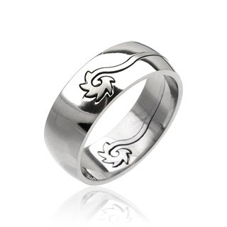Stainless Steel Mens Tribal Spin Spinner Carved Band Ring Size 11 (033)