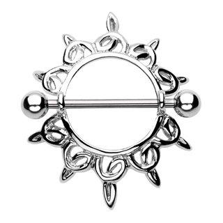 Tribal Nipple Shield Ring Bar Barbell 14 Gauge (930)