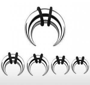 Surgical Steel Buffalo Taper 8 Gauge Earlet Expander C Ring (TSB)