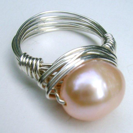 Golden Egg Freshwater Pearl Ring