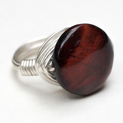 Bold and Beautiful Red Tiger's Eye Ring
