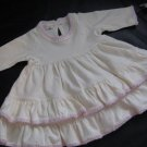 Margery Allen Pink and Ivory Chenille Dress
