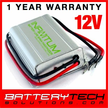 Battery Desulfator Life Span Optimizer 12V ~ Wheelchair, UPS, Power Backup Batteries