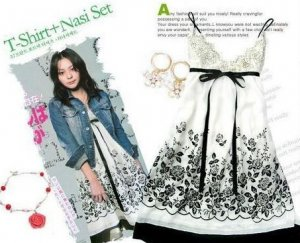 Sexy White Black Flower Dress