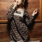 Fashion lace flower dress tops coffee