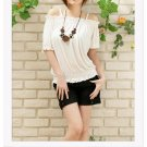 Off-shoulder cotton top #1484 White
