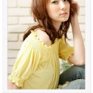 Off-shoulder cotton top #1484 Yellow
