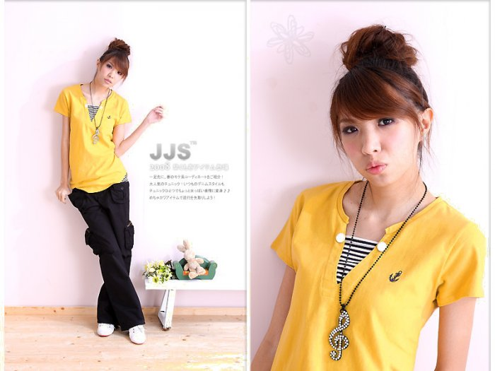 Hot item~Lovely Comfy cotton top #8902 Yellow