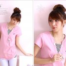 Hot item~Lovely Comfy cotton top #8902 Pink