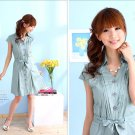 OL's favourite cotton dress #8894 Blue