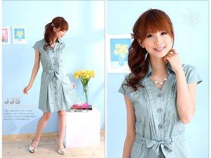 OL's favourite cotton dress #8894 Blue