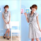 OL's favourite cotton dress #8894 Grey