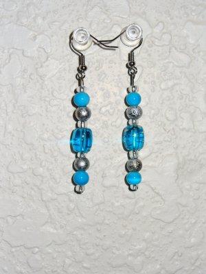 Earring -  Blue/Silver
