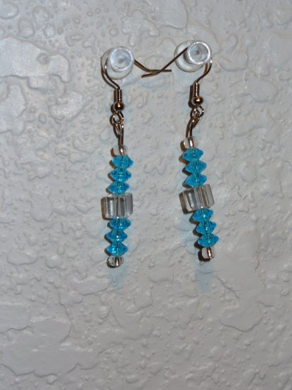 Earring - Blue/White/Silver