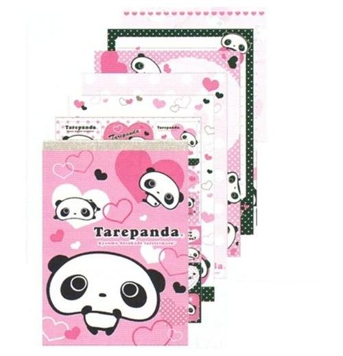 Kawaii San-X Tarepanda 100 sheets Memo Pad with Stickers ( Pink )