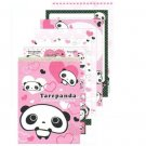Kawaii San-X Tarepanda 100 sheets Memo Pad with Stickers ( Pink )