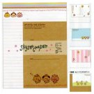 Kamio Three Little Animals Skysercraper Letter Set -50 sheets and 25 envelopes