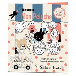 Shinzi Katoh Sticker Pack - Mon Peluche