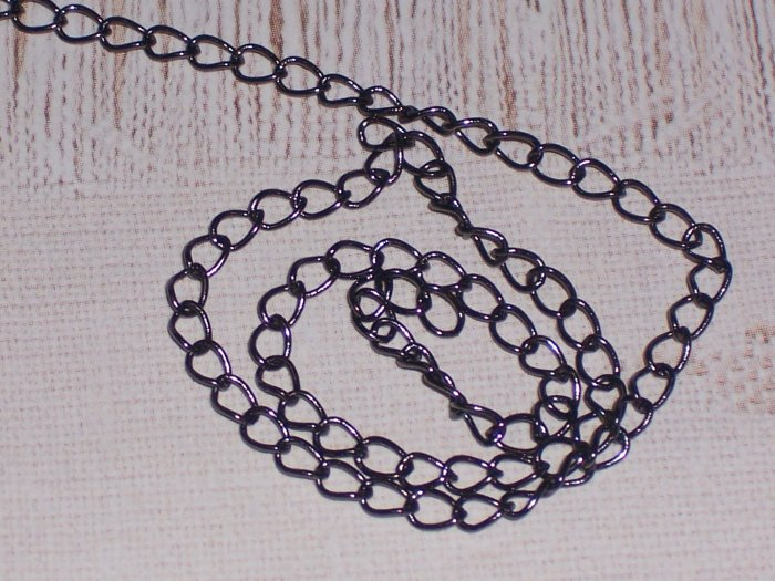 10 feet Brass Curb Chain Gunmetal Finish with Soldered links