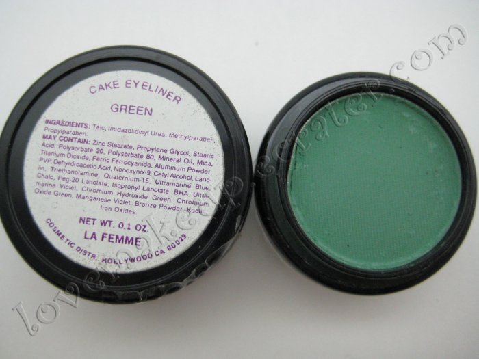 La Femme CAKE EYE LINER - GREEN