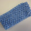 CROCHET HEADBAND *LIGHT BLUE* Stretchy Thick