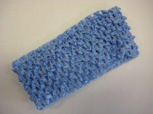 CROCHET HEADBAND *LIGHT BLUE* Stretchy Thick
