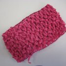 CROCHET HEADBAND *HOT PINK* Stretchy Thick