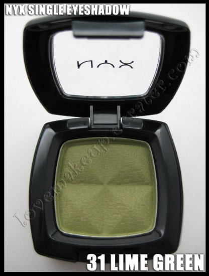 NYX Single EYESHADOW *31 LIME GREEN* [POSSIBLE MAC DUPE: LUCKY GREEN OR JUXT]