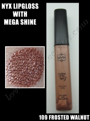 NYX Mega Shine Lip Gloss *109 FROSTEED WALNUT*