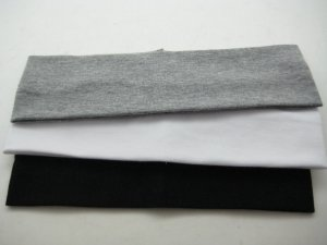 Celebrity Favorite COTTON HEADBAND 3-PACK *GRAY-WHITE-BLACK [AS SEEN ON GWEN AND CAMERON]