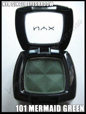 NYX Single EYESHADOW * 101 MERMAID GREEN * [Possible MAC DUPE: HUMID]