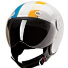 OPEN FACE HELMET 15640 WHITE/MULTI STRIPE  -  XS