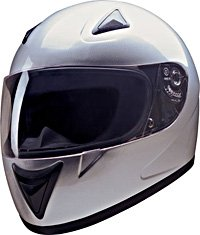 FULL FACE HELMET 75753 SILVER  -     XL