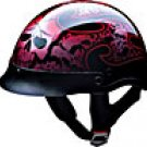 HALF HELMET 100132 RED TRIBAL SKULL   -   L
