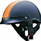 HALF HELMET 100128 MATT ORANGE STRIP  -  L