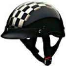 HALF HELMET 100127 SILVER CHECKER   -   XL
