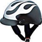 HALF HELMET 100121 CHROME FLAT FLAME   -   XL