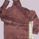 Brown Hoodie with side stripes  Tie Dye Adult Size Large