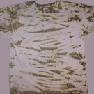 Green Stripes  Tie Dye Adult Size Medium