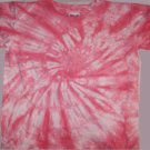 Pink Spiral Tie Dye Youth Size Small